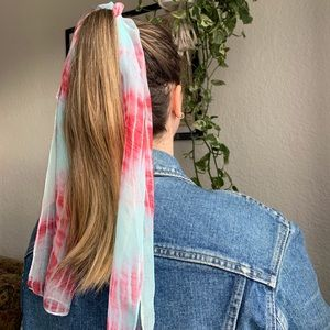 Accessories - BLUE AND PINK TIE DYE SCARF